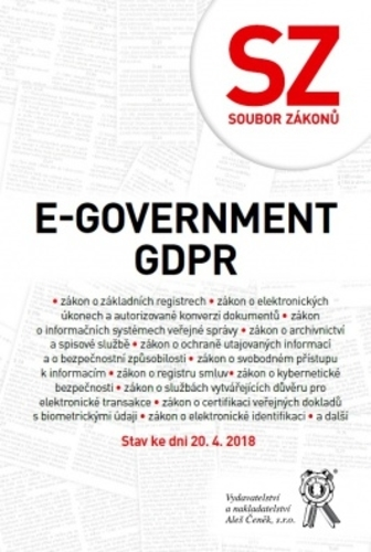 E-government a GDPR - Stav ke dni 20. 4. 2018